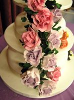 Wedding Cake Sugar Rose Spray by elyobkram