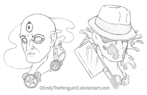 Two Men with Two Pasts (Watchmen Sketches) by OEmilyThePenguinO