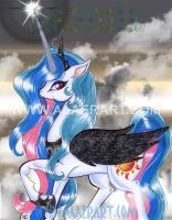 Older Art Evil Princess Celestia LE Glossy Print by alaer