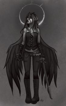 commish: chaos angel by hchan