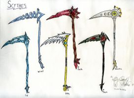 Scythes 1 by WhoAteTheWaffles