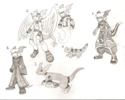 KH Guilmon Alt. Costumes by MegaloRex