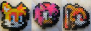 Perler Beads: Tails, Amy, and Cream by Superstrider