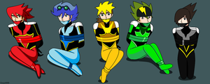 Commission: Tenkai Knights B+G by ernet888