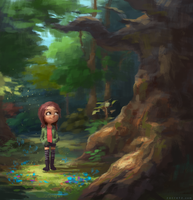 Forest Girl by zacretz