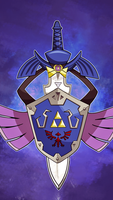 Master Sword Aegislash iPhone 5 Wallpaper