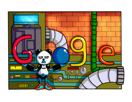 My google doodle by pandamune