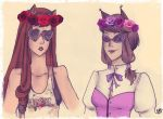 Flower Crowns and Lame Backgrounds  by SweetlyViolent