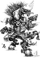 Chinese Monster Zodiac-Horse by Eyue