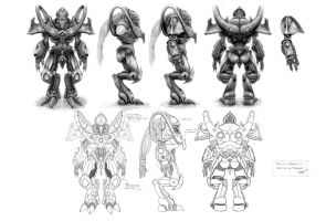 Protoss Zealot, CharacterSheet by AncientSources