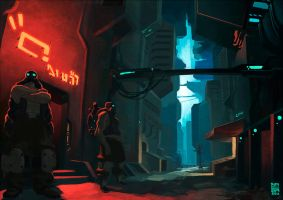 Neon Alley by Brosa by empersand
