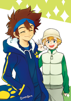 Digimon : Taichi and Takeru by booombom
