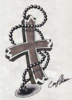 Rosary Tattoo Design by NarcissusTattoos