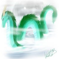 Water Dragon by lunedragonfly