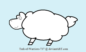 Sheep Lineart :CO: by TurkFish