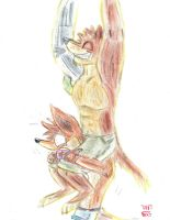 Crunch and Crash Bandicoot by TNT-DOG