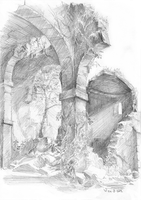 Sketch: Romanesque ruins by woutart