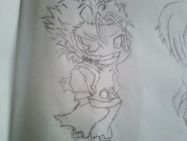 Chibi Grimmjow from Bleach by linkfangirltpoot
