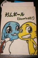Gumball and Darwin Drawstring bag by GirlOfGore
