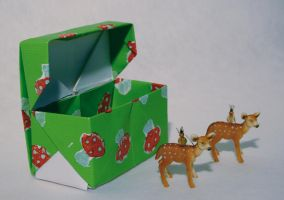 Fawn earrings with gift box by dark-zero-mousy