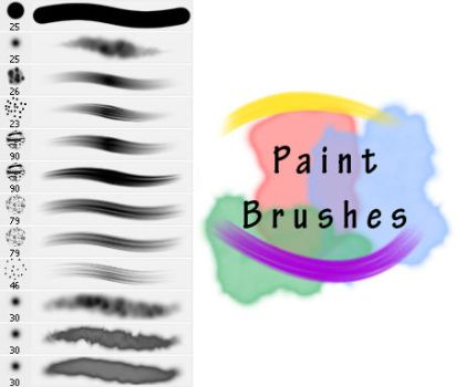 Realistic Paint Brushes by Stalcry