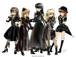 SHINee Girls 1000 years by Pulimcartoon