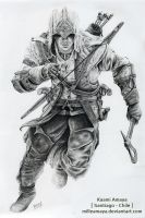 Connor Kenway 1 Drawing by AssassinsCreedChile