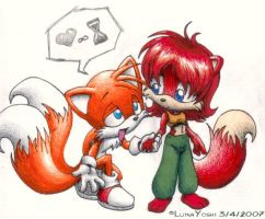 Sonic: TxF: I heart u infinite time by LuLuLunaBuna