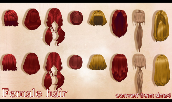 Female hair by Angelica-Lime