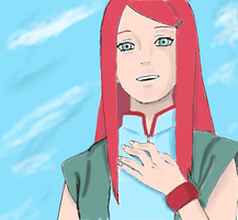 kushina colored by narutofreak96