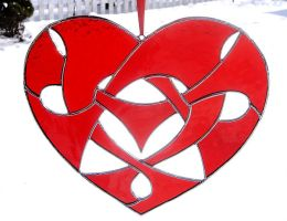 Glass Celtic Knotwork Heart by bigblued