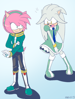 Outfit Swapping with Amy and Silver by General-RADIX
