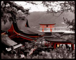 miyajima shrine by jyoujo