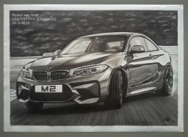 BMW M2 Coupe Drift marker drawing by Laggtastic