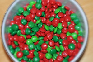 Christmas M and Ms by LDFranklin