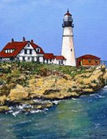 Portland Maine Light House by RandySprout