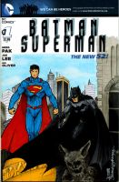 Batman Superman 1 sketch cover by giberwitz