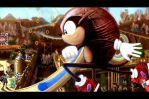 Mighty the Armadillo - Race Thru Pinata Town by modji-33