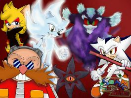 Sonic and the power holders: some villans by FANTASY-WORKS-JMBD