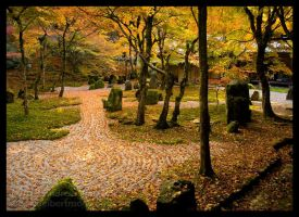 Autumn at Komyozenji Temple by AndrewMarston