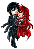 Sebastian and Grell by Chikukko