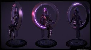 Tali'zorah floating circle by dannedadon