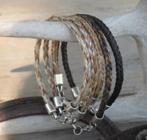 Braided Horsehair Bracelets - Group Photo by TarpanBeadworks