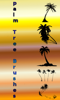 Molly Gray Scale Palm Trees Palm tree brushes by benjimacy