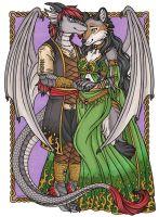 Luthien and Pachua by kalika-futago