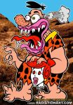 Freaked-Out Flintstone by RossRadiation