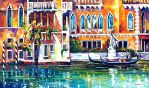 Venice Building by Leonid Afremov by Leonidafremov
