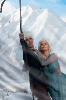 JELSA Couple COSPLAY- Just Don't Look Down Elsa.. by WhiteRavenCosplay