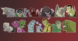 Spiderman Villains by coldicebg