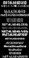Rock Band Fonts by MetallicaSeid